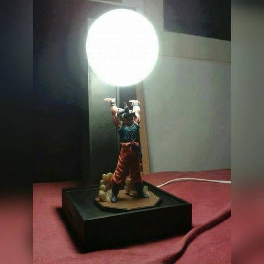 Goku spirit bomb lamp Dragon Ball Z merchandise