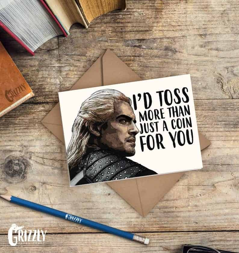 the witcher valentines day card