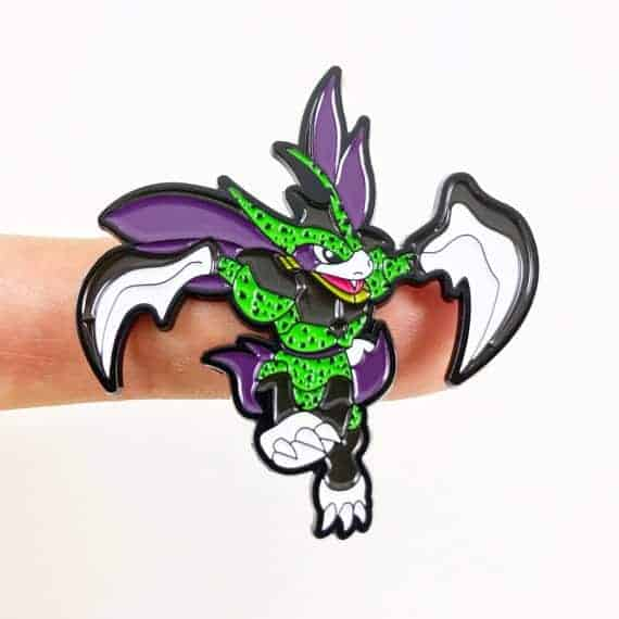 Cell scyther mashup pin Dragon ball z merchandise