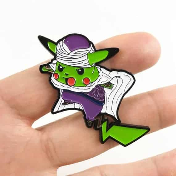 Pikachu x Piccolo mashup pin Dragon ball z merchandise
