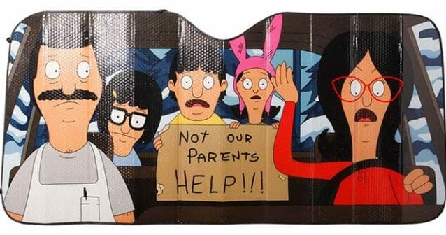 bobs burgers help car sunshade