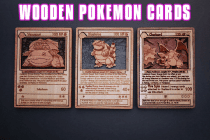Wooden Pokemon Cards